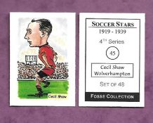 Wolverhampton Wanderers Cecil Shaw 45 (FC)